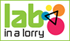 lab in lorry logo